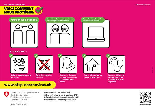 COVID-19 – informations concernant l'utilisation des salles.